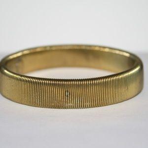 Vintage gold stretch bangle bracelet